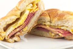 Сандвич завтрака ветчины Тейлора Стоковая Фотография