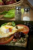 сандвич завтрака просто Стоковая Фотография