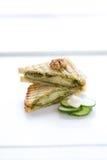 Сандвич зажаренный Pesto Стоковое фото RF