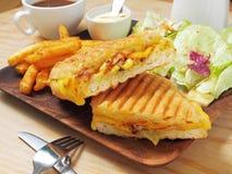 сандвич зажженный кубинцем стоковая фотография