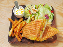 сандвич зажженный кубинцем стоковые фото