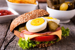 Сандвич здравицы стоковое фото rf
