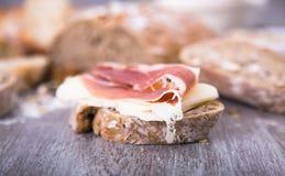 сандвич изображения ветчины еды сыра Стоковая Фотография RF