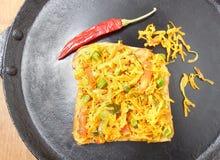 Сандвич индийского хлеба Masala еды открытый Стоковые Изображения