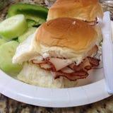 Сандвич и овощи Стоковые Изображения RF