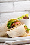 Сандвич крена обруча пита цыпленка shawarma Kafta Стоковые Фото