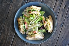 Сандвич клуба без мяса Стоковая Фотография RF