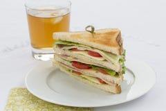 сандвич клуба вкусный Стоковое Изображение