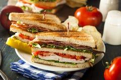 Сандвич клуба Турции и бекона Стоковые Изображения RF