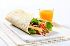 Сандвич обруча салата ветчины и сыра Стоковая Фотография RF