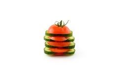Сандвич огурца томата Стоковые Фото