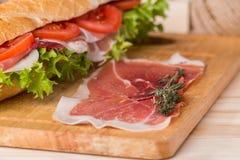 сандвич от свежего багета Стоковые Фото