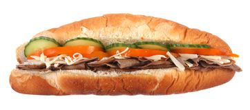 сандвич подводной лодки взгляда со стороны Стоковое фото RF