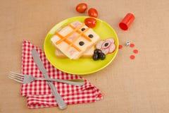 Сандвич ребенк ветчины и сыра Стоковые Фото