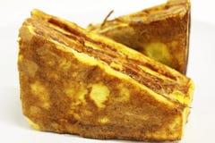 Сандвич решетки на белой предпосылке стоковое изображение rf