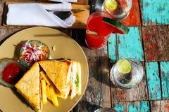 Сандвич рыб Стоковые Изображения RF