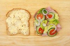 Сандвич салата ветчины Стоковая Фотография RF