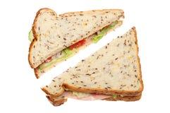 Сандвич салата ветчины Стоковое Фото