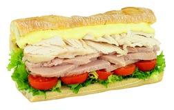 Сандвич салата цыпленка и ветчины Стоковые Фотографии RF