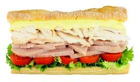 Сандвич салата цыпленка и ветчины Стоковые Изображения