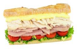 Сандвич салата цыпленка и ветчины Стоковые Изображения RF