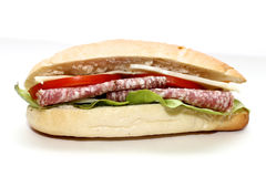 Сандвич салями Стоковое Изображение