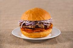 Сандвич свинины Стоковые Изображения RF