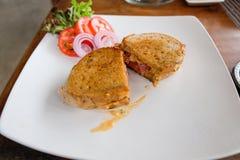сандвич сыра бекона стоковое изображение
