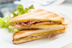 Сандвич сыра ветчины Стоковое фото RF