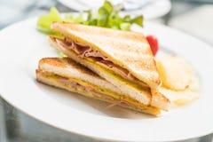 Сандвич сыра ветчины Стоковая Фотография RF