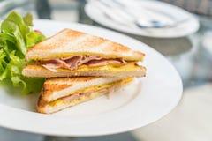 Сандвич сыра ветчины Стоковые Фотографии RF