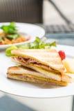 Сандвич сыра ветчины Стоковая Фотография