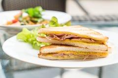Сандвич сыра ветчины Стоковые Фото