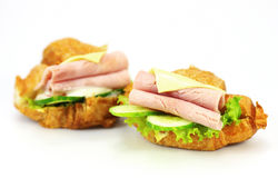 Сандвич с ветчиной, сыром Стоковые Фото