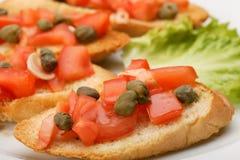 Сандвич с концом-вверх каперсов Стоковые Фото