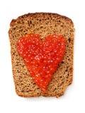 Сандвич с красной икрой Стоковые Фотографии RF