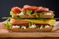 Сандвич с мясом в переднем плане Стоковое фото RF