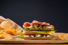 Сандвич с обломоками Стоковое Фото
