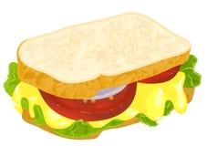 Сандвич с сыром иллюстрация штока