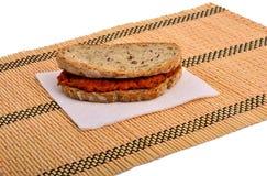 Сандвич с чатнями, ajvar Стоковые Изображения RF