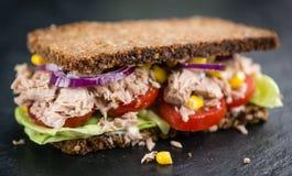 Сандвич тунца с хлебом wholemeal & x28; селективное focus& x29; Стоковые Изображения RF