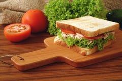 Сандвич тунца Стоковая Фотография