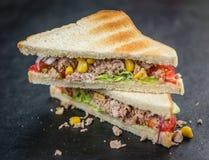 Сандвич тунца & x28; селективное focus& x29; Стоковое Фото