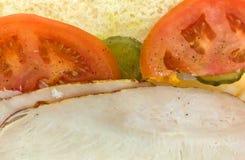 Сандвич Турции итальянский под Стоковое фото RF