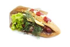 Сандвич фаст-фуда Стоковая Фотография