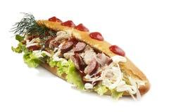 Сандвич фаст-фуда Стоковое Фото
