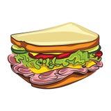 Сандвич шаржа иллюстрация вектора