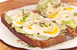 Сандвич яичка Стоковое Фото