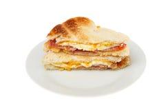 Сандвич яичницы и бекона Стоковое Изображение RF