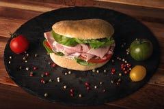 Сандвич cotto ветчины Стоковые Изображения RF